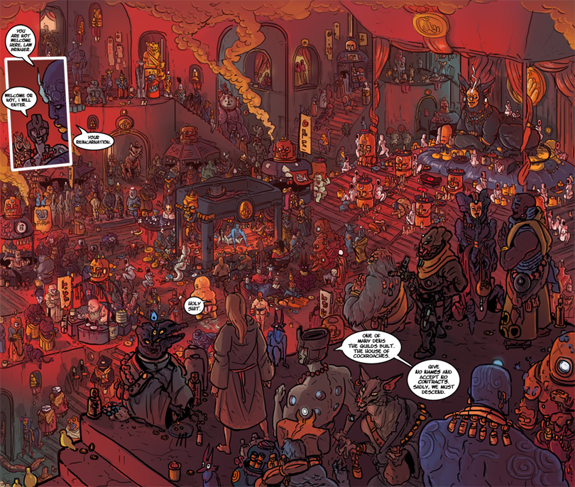 Kill Six Billion Demons: veduta d'ambiente